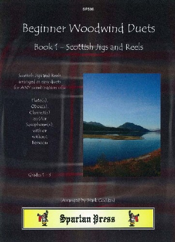 Beginner Woodwind Duets Book 1 - Scottish Jigs & Reels published by Spartan Press