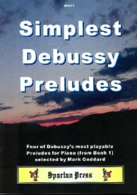 Simplest Debussy Preludes for Piano published by Spartan Press