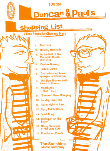 Duncan and Pauls Shopping List by Carr/Reid for Oboe published by Sunshine Music