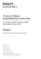 Trinity Guildhall Theory Supplementary Exercises Grade 1