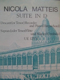 Matteis: Suite in D for Descant Recorder published by Universal