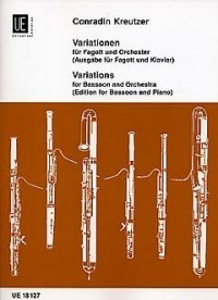 Kreutzer: Variations for Bassoon published by Universal