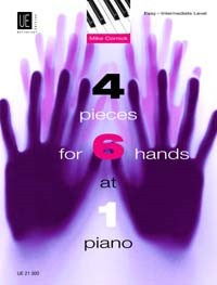 Cornick: 4 Pieces for 6 Hands at 1 Piano published by Universal