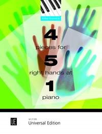 Cornick: 4 Pieces for 5 Right Hands at 1 Piano published by Universal