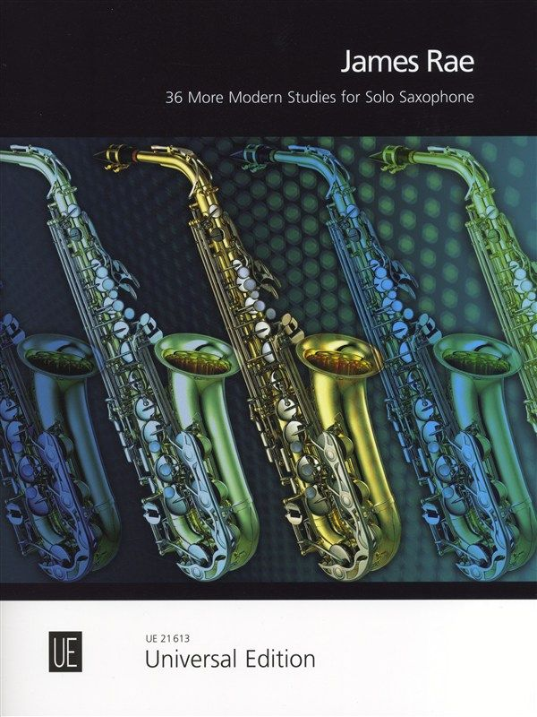 36 More Modern Studies for Solo Saxophone by Rae published by Universal Edition