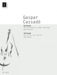 Cassadó: Serenade for Cello published by Universal
