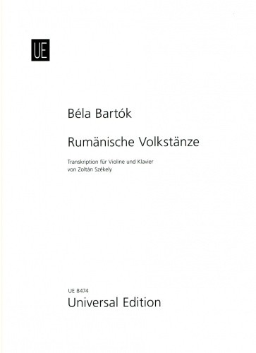 Bartok Roumanian Folk Dances for Violin published by Universal Edition