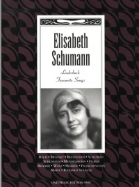 Elisabeth Schumann Songbook published by Universal Edition