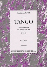 Albeniz: Tango In D From Espana for Piano published by UME