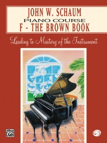 Schaum Piano Course Book F (Brown) published by Alfred