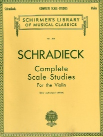 Schradieck: Complete Scale Studies for Violin published by Schirmer