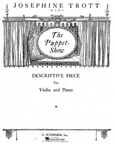 Trott: Puppet Show Opus 5/1 for Violin published by Schirmer