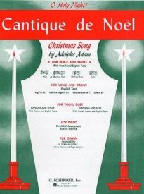 Adam: Cantique De Noel (O Holy Night) for Medium Voice in Db published by Schirmer