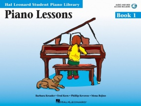 Hal Leonard Student Piano Library: Lessons 1 Book & Online Audio