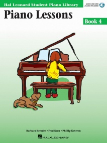 Hal Leonard Student Piano Library: Lessons 4 (Book/Online Audio)