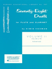 78 Duets for Flute and Bb Clarinet Volume 2 published by Rubank