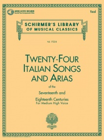 24 Italian Songs and Arias Medium/High Book & Online Audio published by G Schirmer