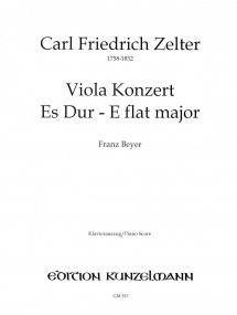 Zelter: Concerto in Eb for Viola published by Kunzelmann