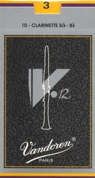 Vandoren V12 Bb Clarinet Reeds (Pack of 10)