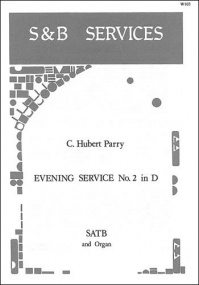 Parry: Evening Service No. 2 in D SATB published by Stainer and Bell