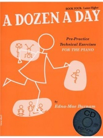 Dozen a Day Book 4 (Lower Higher) Book & CD for Piano published by Willis Music