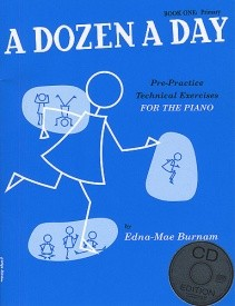 Dozen a Day Book 1 (Primary) Book & CD by Burnam for Piano published by Willis Music