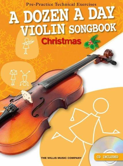 A Dozen A Day Violin Songbook: Christmas (Book/CD) published by Willis