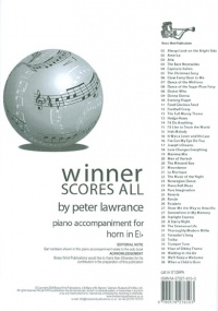 Winner Scores All - Piano Accompaniment for Horn in Eb published by Brasswind