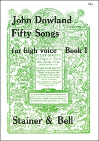 Dowland: 50 Songs for High Voice Book 1 published by Stainer and Bell
