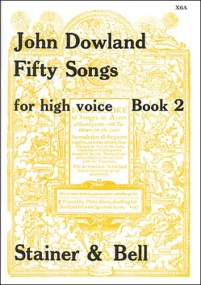 Dowland: 50 Songs for High Voice Book 2 published by Stainer and Bell
