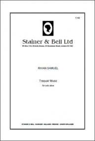 Samuel: Traquair Music for Solo Oboe published by Stainer & Bell