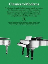Classics To Moderns 3 for Piano published by York