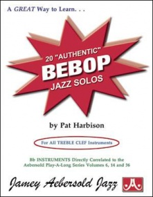 20 Authentic Bebop Jazz Solos Book & CD published by Aebersold