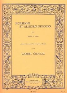 Grovlez: Sicilienne Et Allegro Giocoso for Bassoon published by Leduc