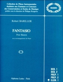 Fantasio by Bariller for Bassoon published by Leduc