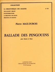 Dubois: Ballade Des Pingouins for Bassoon published by Leduc