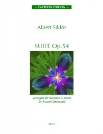 Suite Opus 54 by Siklos for Bassoon published by Emerson