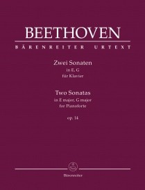 Beethoven: 2 Sonatas in E & G major Opus 14 for Piano published by Barenreiter