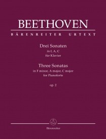 Beethoven: 3 Sonatas for Piano in F, A & C major Opus 2 published by Barenreiter