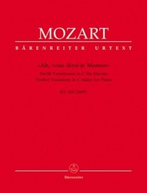 ''Ah, vous dirai-je Maman'' for Piano by Mozart published by Barenreiter