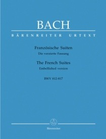 6 French Suites by Bach for Piano published by Barenreiter
