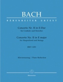 Bach: Concerto for Keyboard No.2 in E (BWV 1053) published by Barenreiter