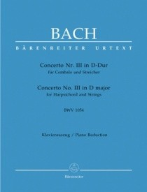 Bach: Concerto for Keyboard No.3 in D (BWV 1054) published by Barenreiter