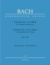 Bach: Concerto for Keyboard No.5 in F minor (BWV 1056) published by Barenreiter