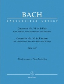 Bach: Concerto for Keyboard No.6 in F (BWV 1057) published by Barenreiter
