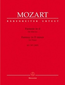 Mozart: Fantasia in D Minor K397 for Piano published by Barenreiter