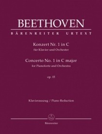 Beethoven: Piano Concerto No.1 in C major Opus 15 published by Barenreiter