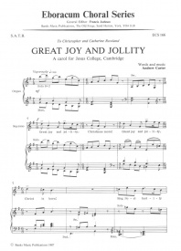 Great Joy And Jollity SATB by Carter published by Eboracum