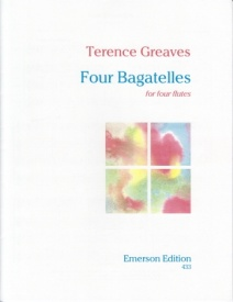 Greaves: Four Bagatelles for 4 Flutes published by Emerson