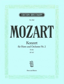 Mozart: Horn Concerto 2 in Eb KV417 for Horn published by Breitkopf